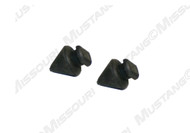 1979-1986 Ford Mustang glove box door or console lid bumpers, pair.