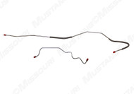 1970 Ford Mustang rear end housing brake lines, set. Fits 8 inch housing.