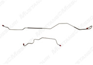 """1971-1973 Ford Mustang rear end housing brake lines, set.  Axle Housing line set for cars with 8"""" or 9"""" rear axle. Original Material"""