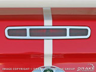 2005-2009 Ford Mustang stamped aluminum 3rd brake light trim.