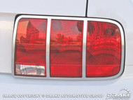 2005-2009 Ford Mustang tail light trim, polished, pair