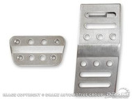 2005-2014 Ford Mustang pedal covers, automatic, billet