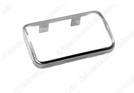 1969-1973 Ford Mustang clutch pedal pad trim, polished stainless steel.