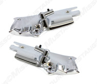 1964-1966 Ford Mustang convertible sun visor brackets and rods, pair.