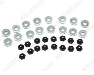 1964-1968 Ford Mustang convertible top seal mounting set, 32 piece set.