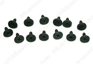 1967-1968 Ford Mustang Convertible well liner screws, 13 piece kit.