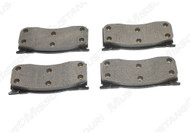 1964-1967 Ford Mustang front disc brake pads, set.  All new disc brake pads. Boxed sets of four pads. Organic lining.