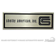 1965-66 Door Sill Tags Shelby