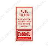 1964-65 Fuel Filter Decal
