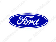 Ford Oval White 3 1/2 Inch