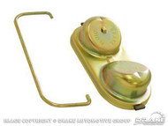 1967-1973 Ford Mustang master cylinder cap, power drum brakes, correct gold finish.