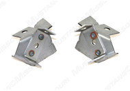 """1968-1970 Ford Mustang lower radiator mounting brackets, pair.  These brackets are for models with a 24"""" radiator.  Pads are sold separately."""