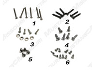 1964-1966 Ford Mustang Pony (deluxe) interior trim screw kit.