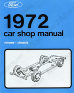 1972 Ford Mustang Shop Manual Set of 5 books