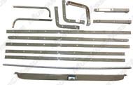 1965-68 Fold Down Seat Chrome Molding Set