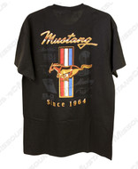 Back of Mustang Since 1964 T-Shirt, 100% pre-shrunk cotton.