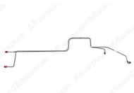1969-70 Ford Mustang transmission oil cooler line, steel, 351W c.i. with FMX transmission, small block, set.