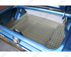 1967 Ford Mustang Trunk Mat Burtex Plaid Concours Correct