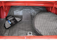 1964-1973 Ford Mustang trunk mat kit in plaid.
