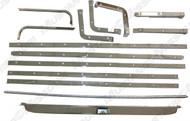 1969-70 Fold Down Seat Chrome Molding Set