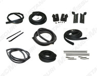 1964-1966 Ford Mustang Coupe weatherstrip kit, basic.