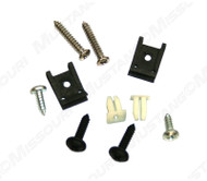 1969 Ford Mustang headlight door nuts and screws, complete set for all 4 headlights, 10 piece kit.