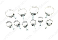 1964-1968 Ford Mustang band hose clamp kit, 10 piece kit.  Correct Wittek band clamp from Marti Auto Works.