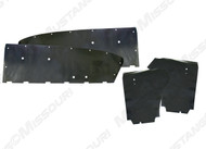 1964-1966 Ford Mustang Coupe, water shields, 4 piece set by Repops™.