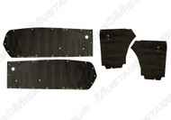 1967-1968 Ford Mustang Coupe, water shields, 4 piece set.