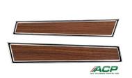 1971-73 Deluxe Door Panel Trim Woodgrain