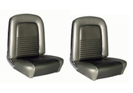 1967 Ford Mustang Coupe, Convertible and Fastback front buckets, pair. Covers the two front buckets. Made in USA.