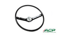 1968-1969 Ford Mustang standard steering wheel, black.