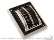 1967-1968 Ford Mustang auto transmission shift cover assembly, concours correct.  Made by Scott Drake Mustang.