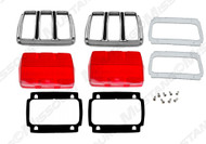 1964-66 Tail Lamp Bezel Kit