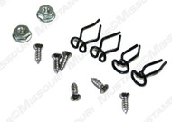 1964-1965 Ford Mustang dash molding clips, 12 piece kit.