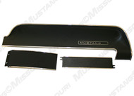 1967-1968 Ford Mustang dash panel, 3 piece set for standard interiors.