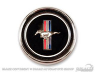 1967-1968 Ford Mustang Deluxe Interior dash panel emblem and base, set.