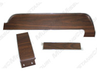 1968 Ford Mustang 3-piece dash panel trim set. For cars without factory air conditioning.