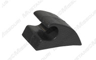 1990-1993 Ford Mustang convertible sunvisor retainer hook, black plastic.