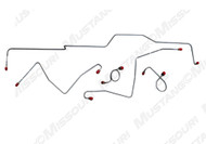 1967 Ford Mustang Front Brake Line Set Drum Early