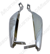 1964-1966 Ford Mustang front bumper guard, pair.  Nice quality reproduction.