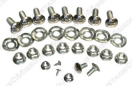 1969 Ford Mustang Deluxe bumper bolt kit with wave washers, 30 piece kit.