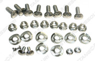 1970 Ford Mustang Deluxe bumper bolt kit with wave washers, 30 piece kit.  Correct style bolts for your 1970 model.