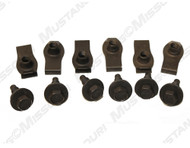 1973 Ford Mustang front bumper bolts and u-nuts, 12 piece kit.