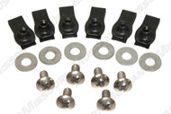1971-1972 Ford Mustang front bumper bolt kit for chrome bumper, 18 piece kit.