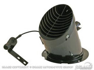 1965-1966 Ford Mustang drivers side air vent. Comes with cable.  Will also work with 1964 models.  A great replacement for your old, rusty underdash air vent.