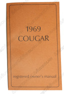 1969 Cougar Owners Manual