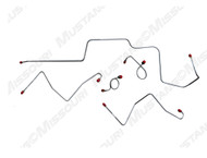 1967 Ford Mustang Front Brake Line Set Drum Late