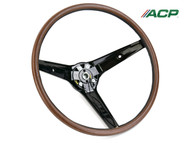 1969 Ford Mustang Steering Wheel Woodgrain Rim Blow