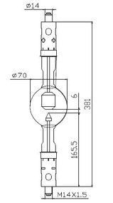 ASL XD4500HTP/G Xenon Lamp